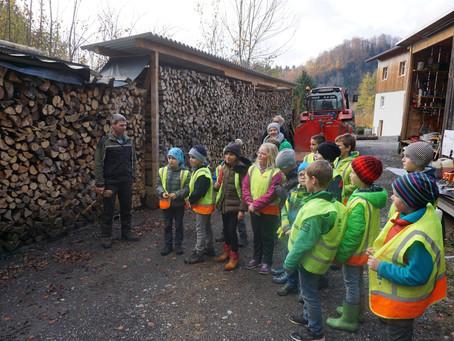 Besuch beim Forstarbeiter