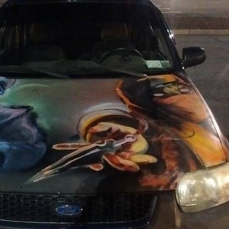 Mortal Kombat Car Hood 1