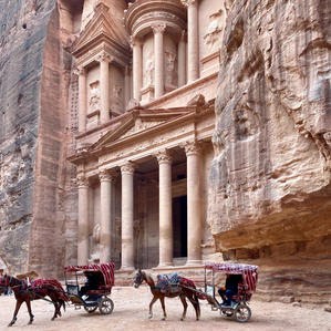 The animals of Petra.