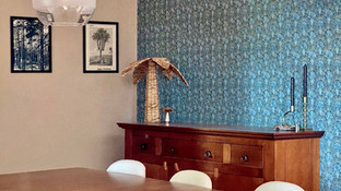 Dutch Wallcoverings in a Spanish country home - dining room makeover