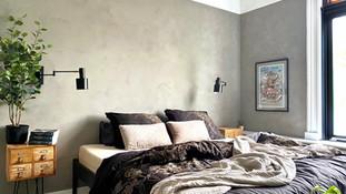 Bedroom metamorphosis in neutral mud!
