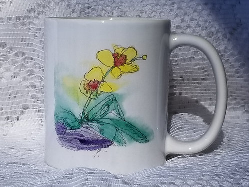 Printed Mug - Orchid