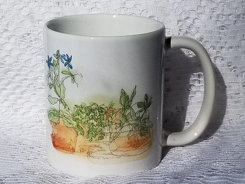 Printed Mug - Borage, Sage and Thyme