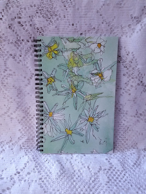 Notebook - Daisies in the Wind