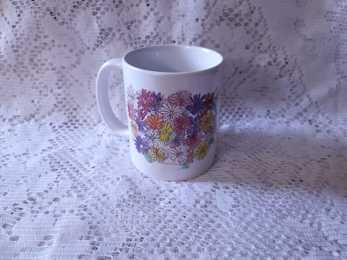 Printed Mug - Explosion of Zinnias