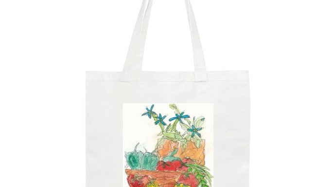 Canvas Tote Bag - Vegetable Delights