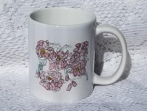 Printed Mug - Rosa Mundi