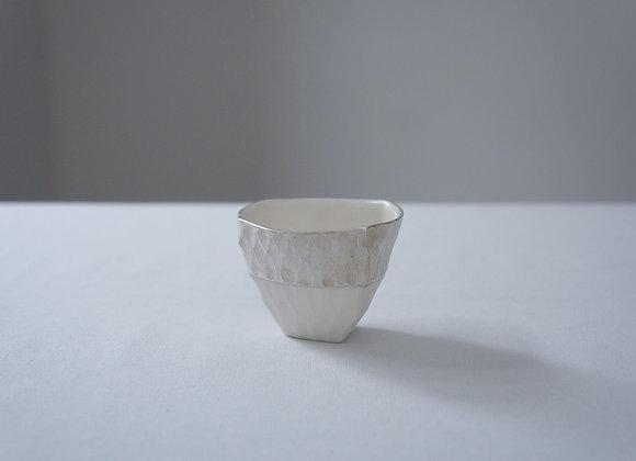 安藤良輔 ▢△ぐいのみ 銀彩上▢