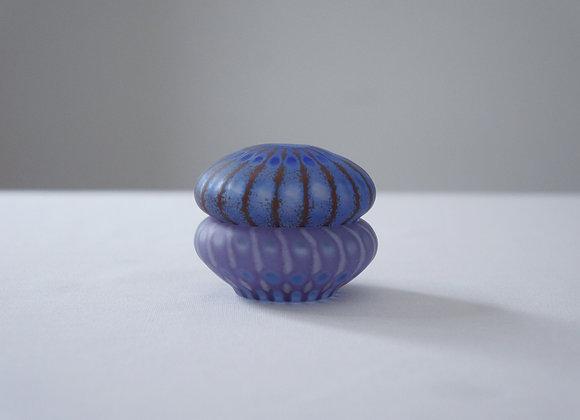 佐々木俊仁 時の花小物入れ 青い蓋