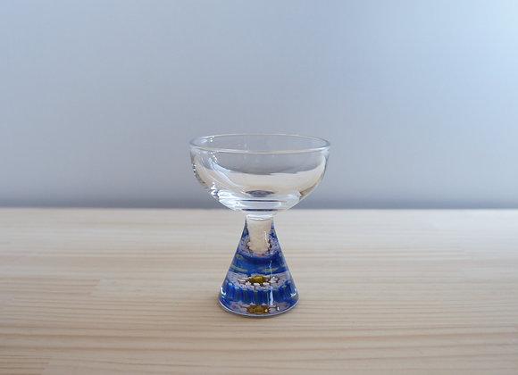 三留舞 千の花酒杯ブルー系