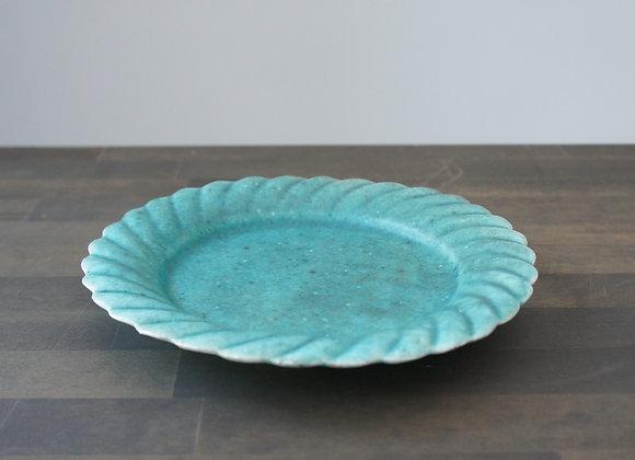 財満晋平 水色の花の皿