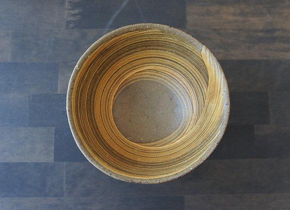 財満晋平 黄色い刷毛目の鉢2