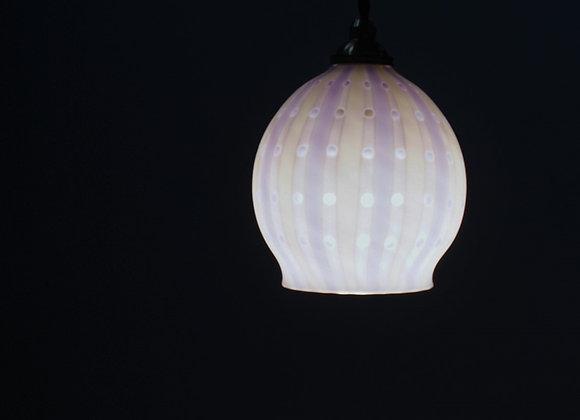 佐々木俊仁 時の花ランプシェード 白紫