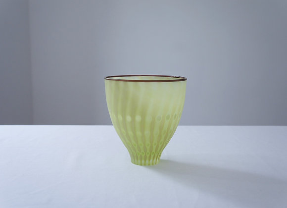 佐々木俊仁 時の花 鉢 黄緑