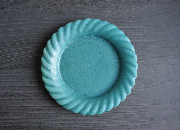 財満晋平 青い花の皿