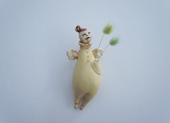 渡邊亜紗子 花器人形 「ポケット」2