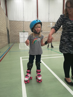 Wow ! First time on skates.