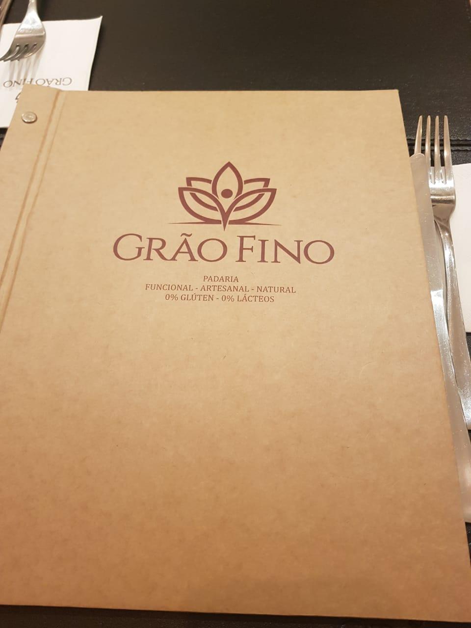 menu sem glúten em restaurante especializado