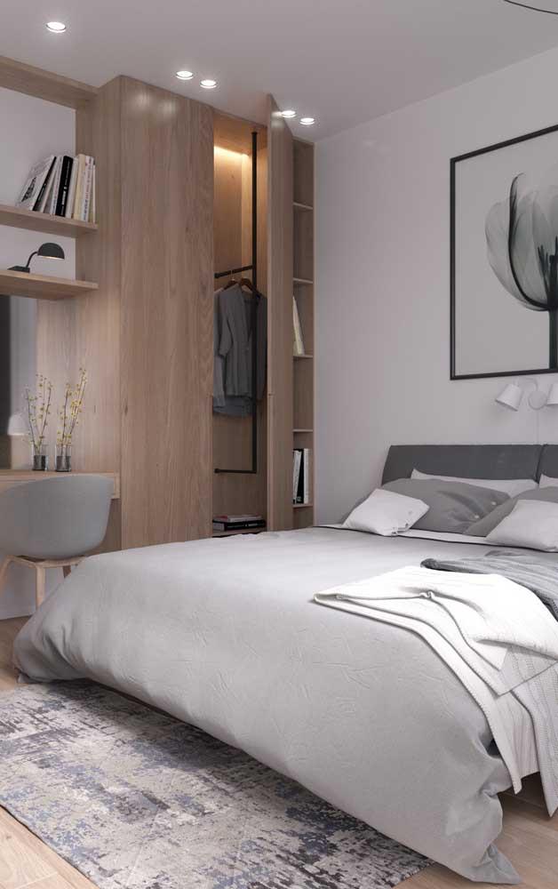 Armário inteligente e bonito para facilitar a organização de quarto pequeno