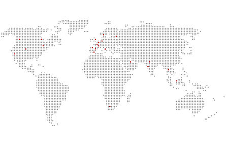International locations serviced by 3Dx