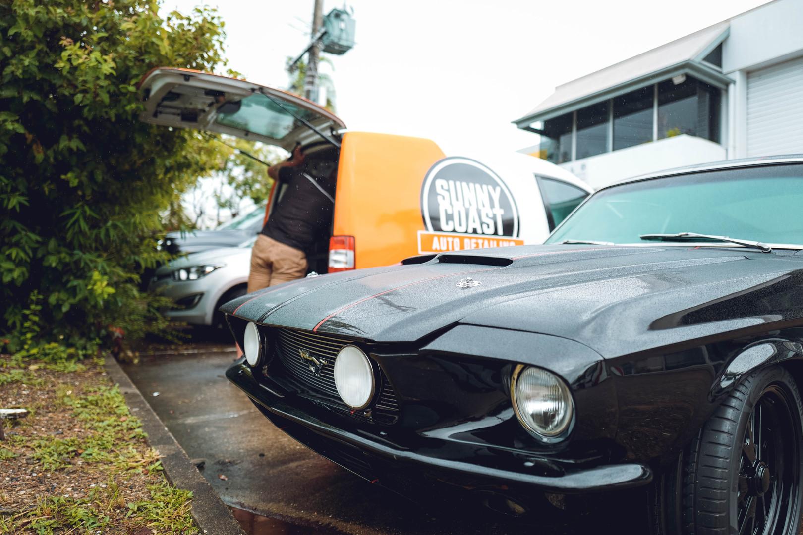 Black 68 Mustang