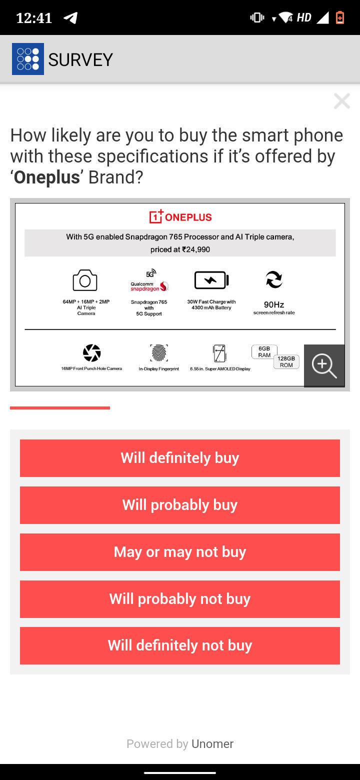 OnePlus Encuesta