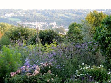 The extensive view across Bath framed