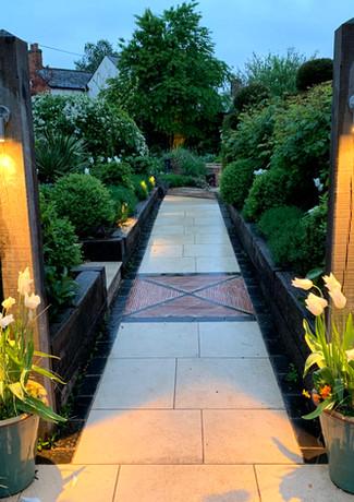 Lighting for a garden gateway