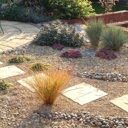 Stepping stone path through a gravel garden