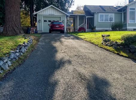 Small Uphill Driveway