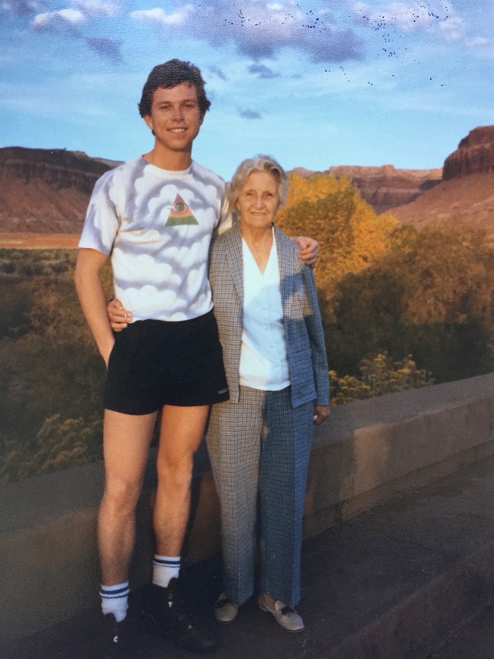 Grandma Hettie and me, Canyonlands, 1985.