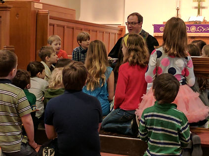 Children's time with Pastor Tim