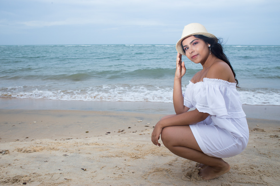 Ensaio Vitoria 15 anos Praia da PitingaArraial d'Ajuda Fev 2018
