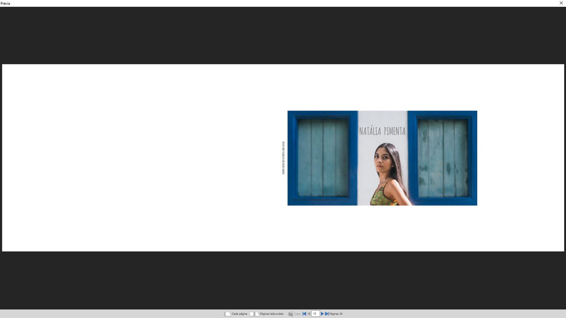 Natalia Pimenta Album capa e contracapa.