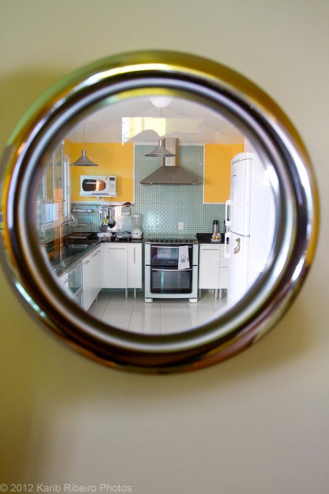 Foto da cozinha com originalidade
