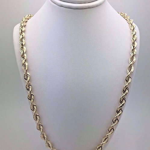 14K Twisted Rope chain 28 inch 6mm