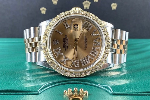 Rolex Datejust 36mm Two Tone 3 carats 16013