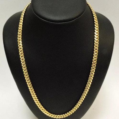 14K Yellow Gold Miami Cuban Chain