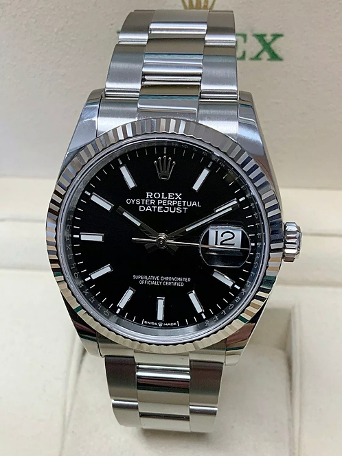 Rolex Datejust 36mm 126234 Black Dial