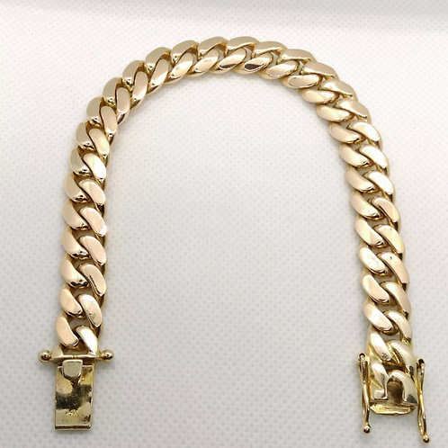 14K Miami Cuban Bracelet 8.5 inch Yellow gold