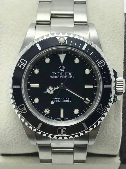 Rolex Submariner 14060 Black Dial Stainless 02'