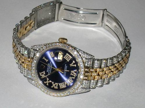 Rolex Datejust Oyster Perpetual 18k custom