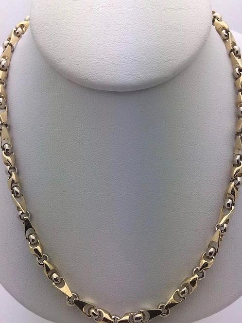 14K Two Tone Handmade Chain Links 5mm