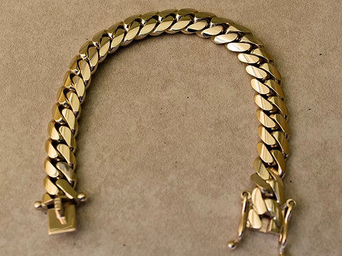 10K Solid yellow gold Miami Cuban 8 inch 11.5mm