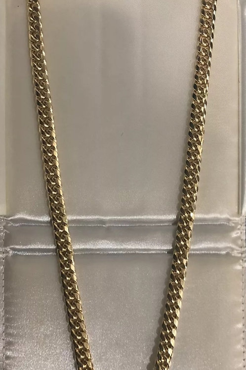 10K Miami Cuban Chain 28 inch