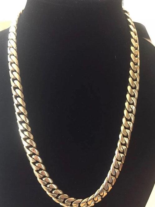 14K Miami Cuban chain 22 inch