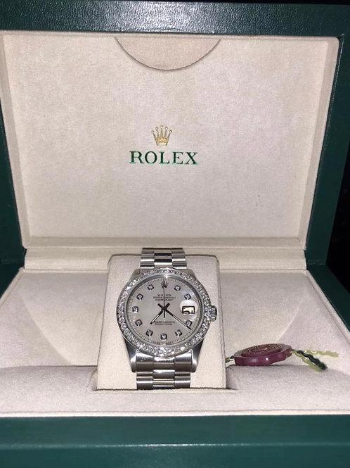 Unisex Rolex Datejust 36mm diamond bezel