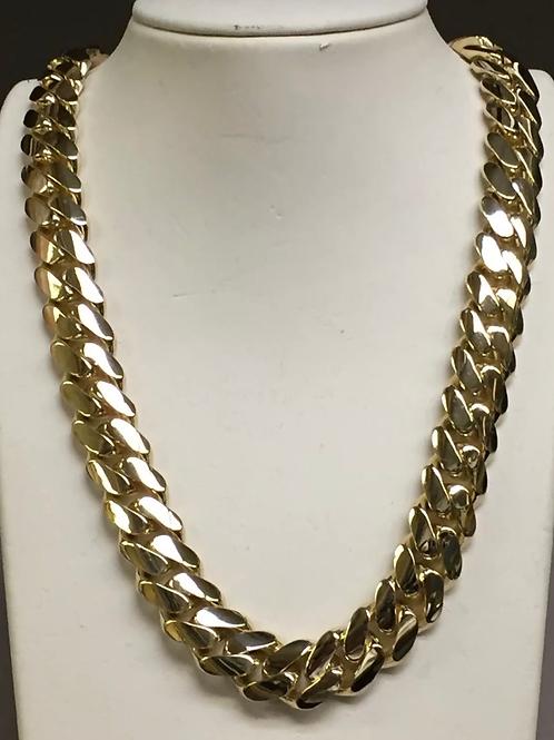 Sold Yellow Gold Miami Cuban 10k 250g 22'