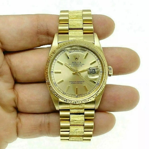 Rolex Day Date President Yellow Gold Double Quickset Ref # 18248 Circa 99