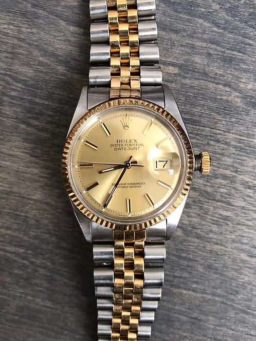 Unisex Rolex Datejust Two Tone YG/Stainless steel